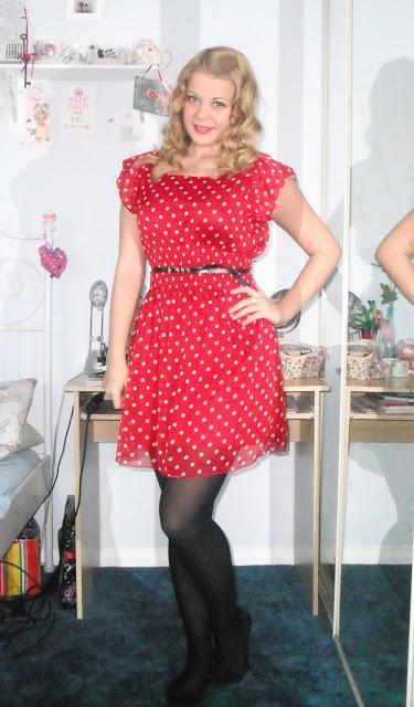 OOTD 11/03/12 Spotty Red Dress.. ♥