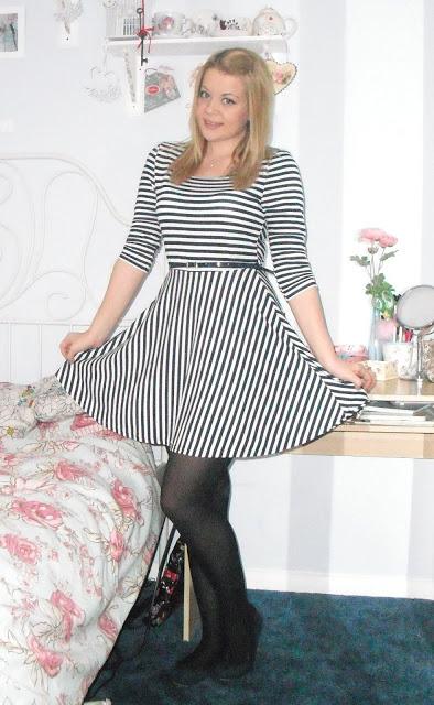 OOTD 16/03/12 – Stripey Nautical Dress.. ♥