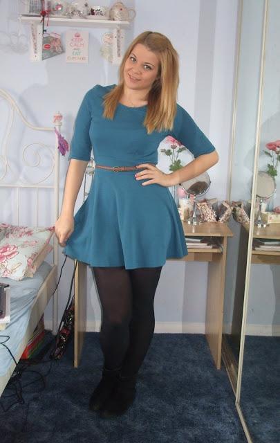 OOTD 17/03/12 – Teal Skater Dress.. ♥
