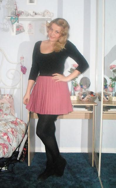 OOTD 11/04/12 – Pleated Berry Skirt.. ♥