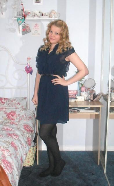 OOTD 13/04/12 – Navy Chiffon Dress.. ♥