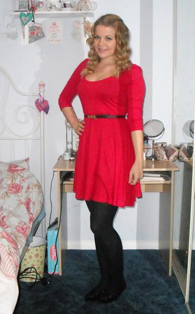 OOTD 10/05/12 – Red Skater Dress.. ♥