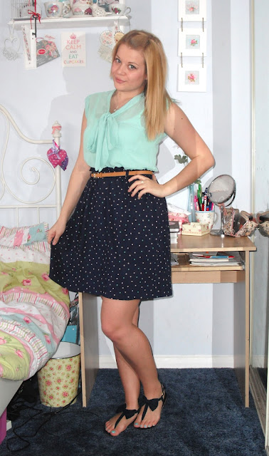 OOTD 23/05/12 – Mint Pussybow Blouse.. ♥
