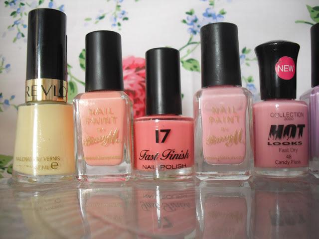 My New Pastel Nail Polish Collection.. ♥