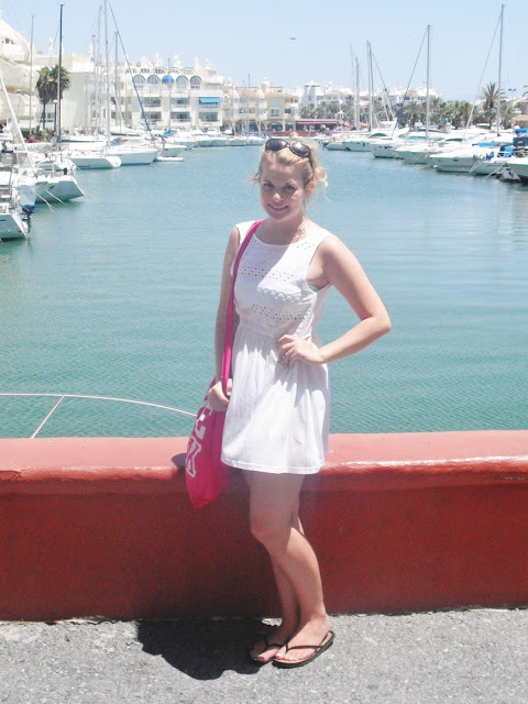 Holiday OOTD Day #7 – Crochet Beach Dress + Turquoise Bikini + Nails.. ♥