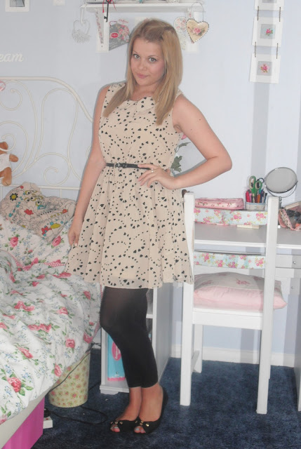 OOTD 27/06/12 – Madam Rage Heart Print Dress.. ♥