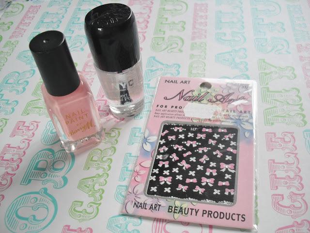 Nail Art – Pretty Pink Bows & Blooms.. ♥