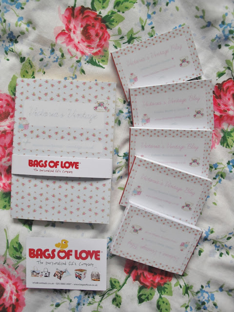 Bags Of Love – Personalised Business Cards + Notebook ♥