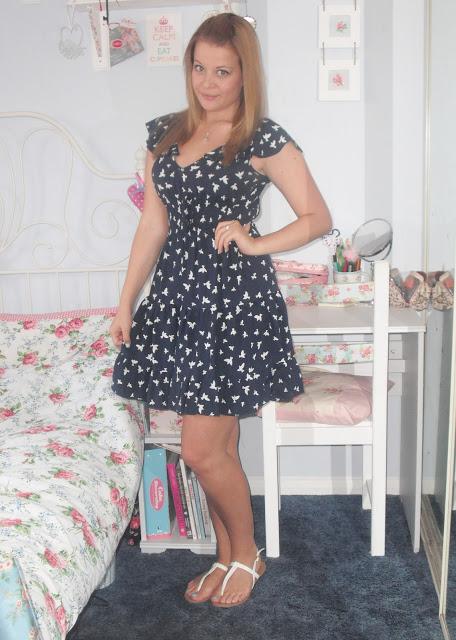 OOTD 11/8/12 – eBay Swallow Print Dress & Hair Colour Change.. ♥