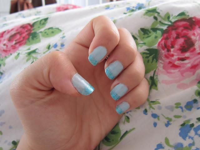 My Mermaid Manicure – Barry M Aqua Glitter + Blue Moon ♥