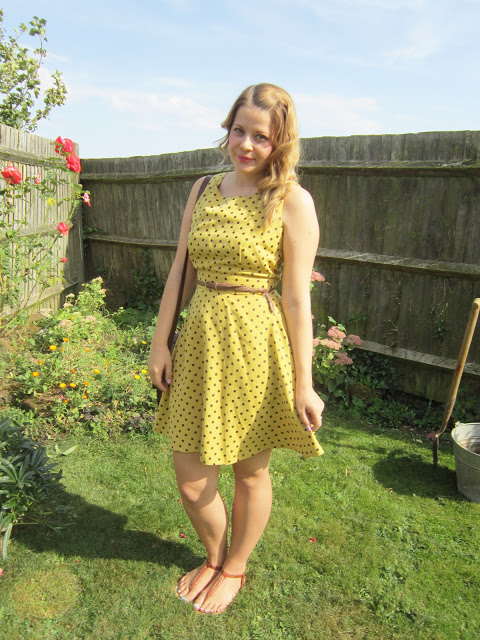 Classic Afternoon Tea + Polka Dot Louche Dress OOTD  ♥