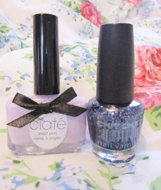Sugar Plum Lilac Glitter Nails ♥