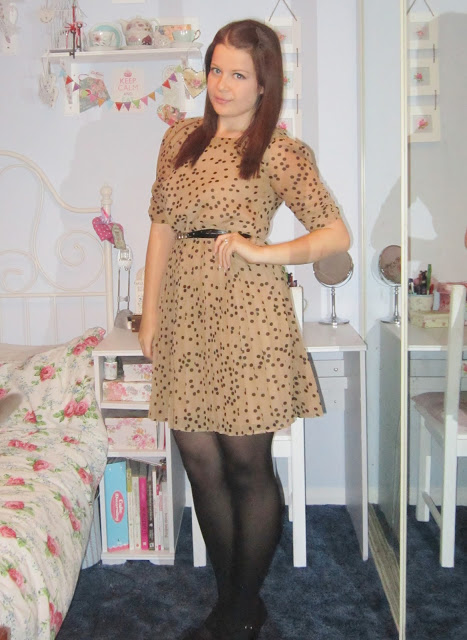 Smart/Work/Interview OOTD – Sheer Polka Dot Oasis Dress♥