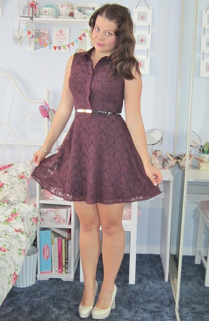 Creating a 50's Silhouette Figure – Oasis Lace Dress From John Lewis ♥