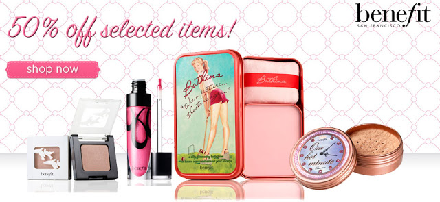 Last Minute Gifts: 50% off Benefit Cosmetics + Free Christmas Delivery! ♥