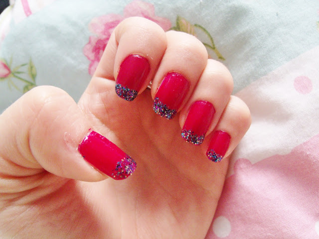 Barry M Raspberry & Amethyst Glitter Nails ♥