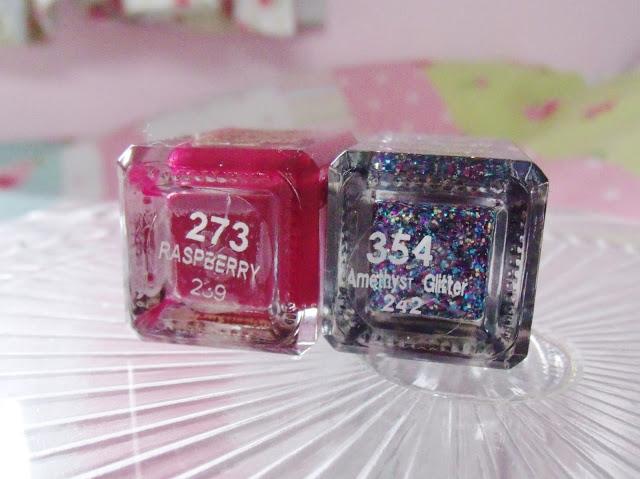 Barry M Raspberry & Amethyst Glitter Nails ♥