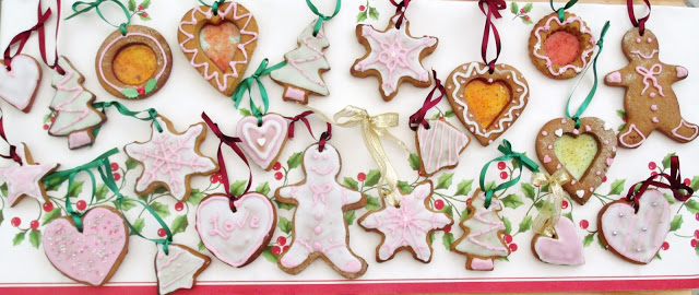 Christmas Gingerbread Tree Decoration Biscuits ♥