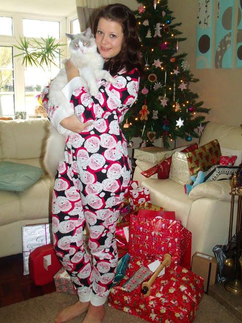 Merry Christmas from me & Merl in my Santa onesie!!