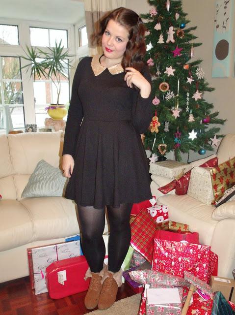 Christmas Eve OOTD – SheInside Sequin Collar Dress ♥
