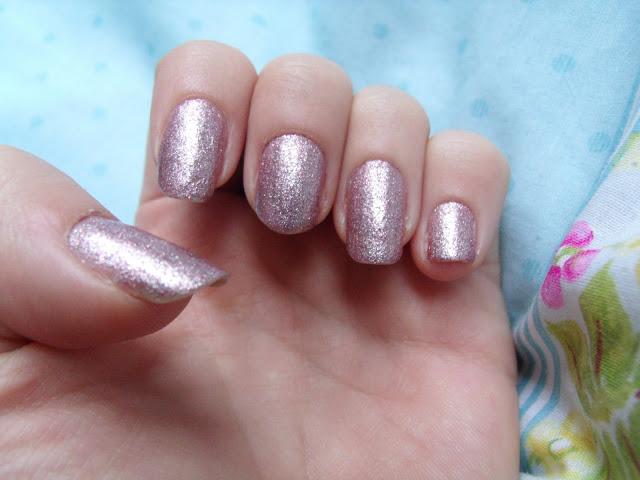 Barry M Pink Silver Glitter Nail Polish ♥