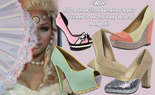 Giveaway! Win £50 of Barratts shoes & Lady Boys tickets! ♥