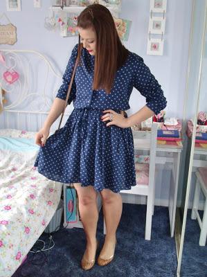 Celia Birtwell at Uniqlo Dress & Bertie Summer Pumps ♥