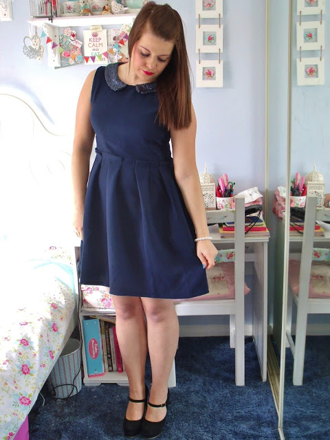 Sequin Collar Dress & New Shoes ♥