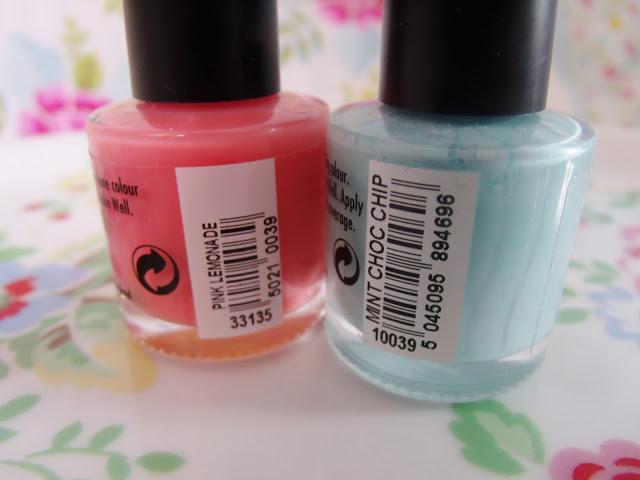 Summer Nails – Pink Lemonade & Mint Choc Chip ♥