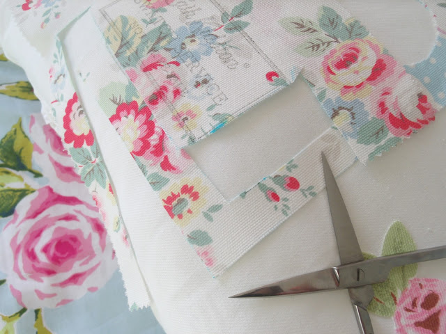 DIY Post: No Sewing Required Pretty Cath Kidston Cushion ♥