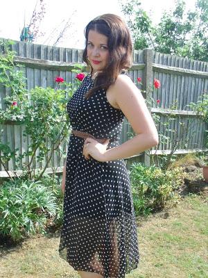 Sheer Polka Dot Dress OOTD ♥
