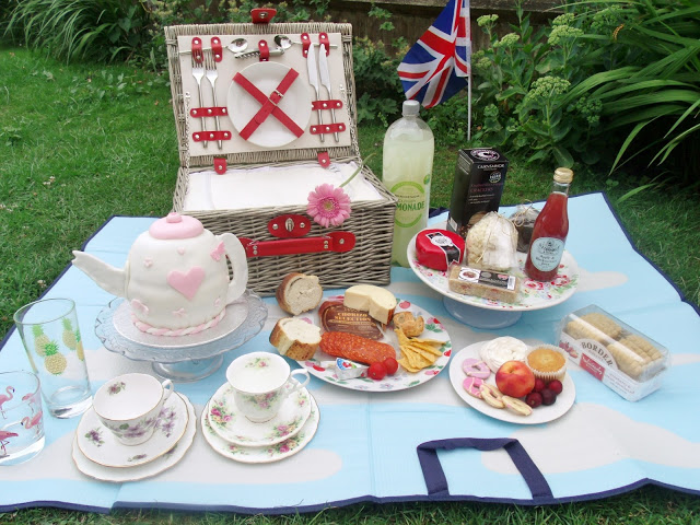 Summer Picnic in back garden for birthday party