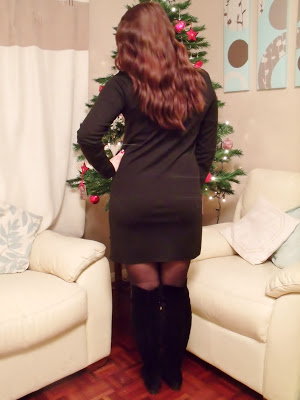 Christmas Day Over Knee Boots & Sequins OOTD ♥