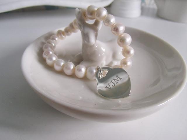 Personalised Pearl Charm Bracelet ♥