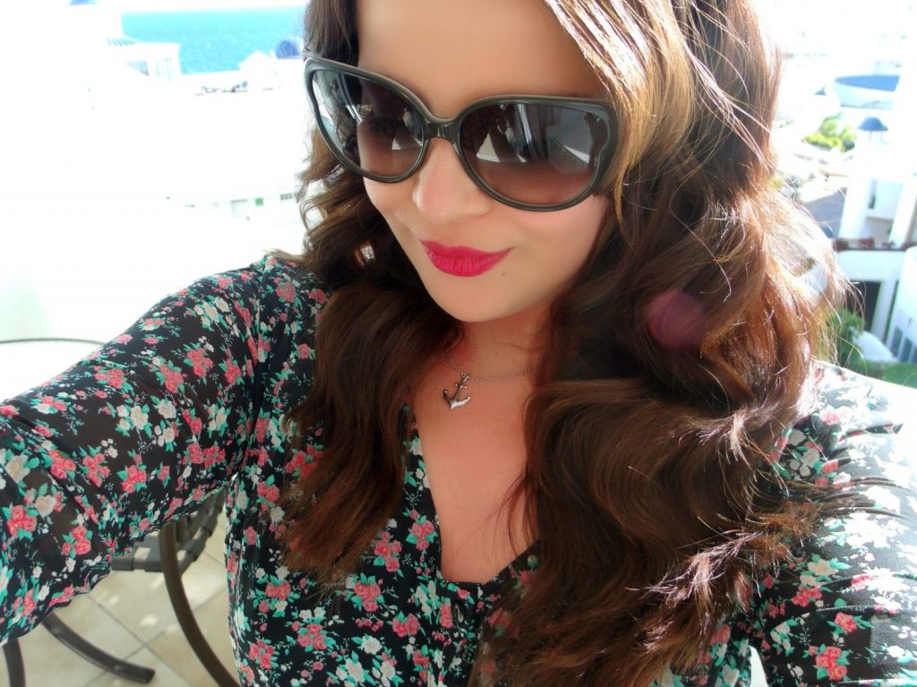 Floral Maxi Dress + Marc Jacobs Sunglasses Holiday OOTD ♥
