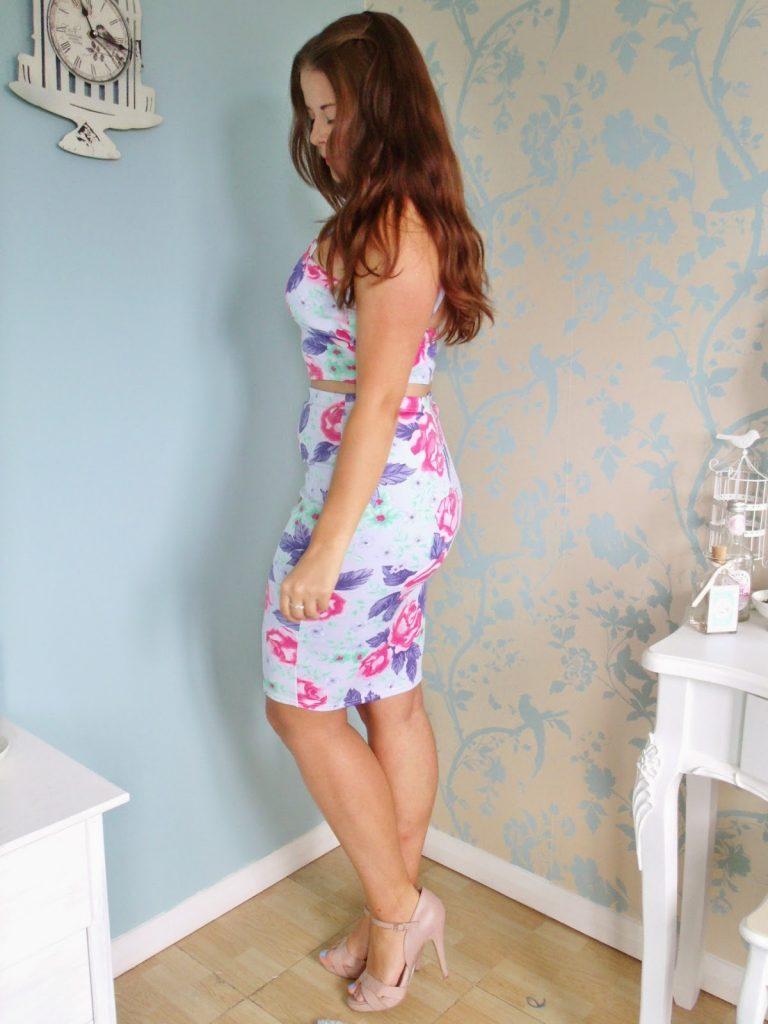 Bralet & Pencil Skirt Floral Coord & Laurens Way Tan ♥