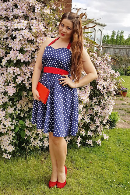 Race Day Outfit: Polka Dot Vintage Dress ♥
