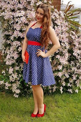 Race Day Outfit: Polka Dot Vintage Dress ♥