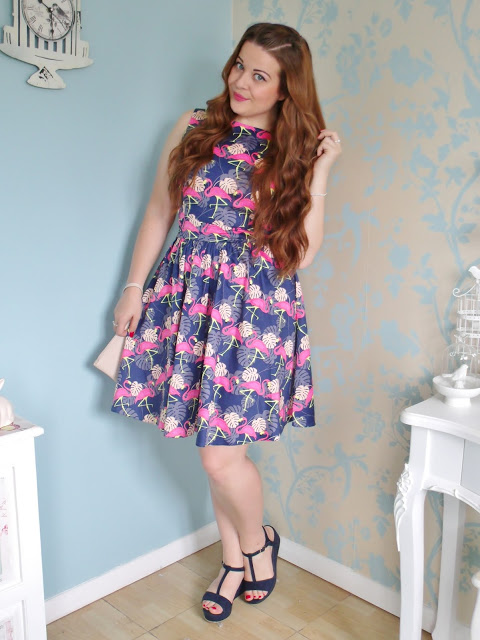 Flamingo Tea Dress from Lady V London
