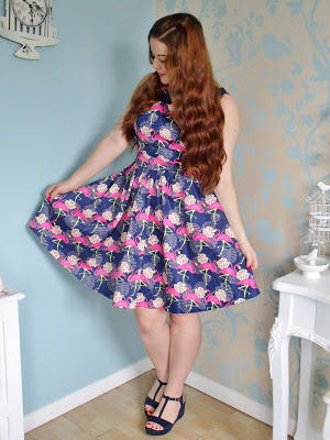 Flamingo Tea Dress from Lady V London ♥