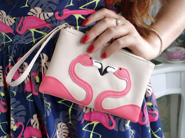 Flamingo purse bag