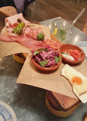 Jamie's Italian Restaurant meat plank