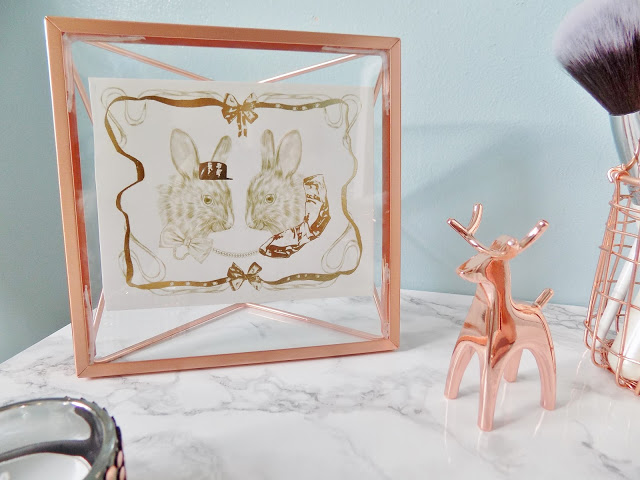 Copper Homeware with marble background