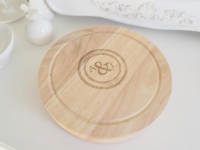 personalised cheeseboard wedding gift