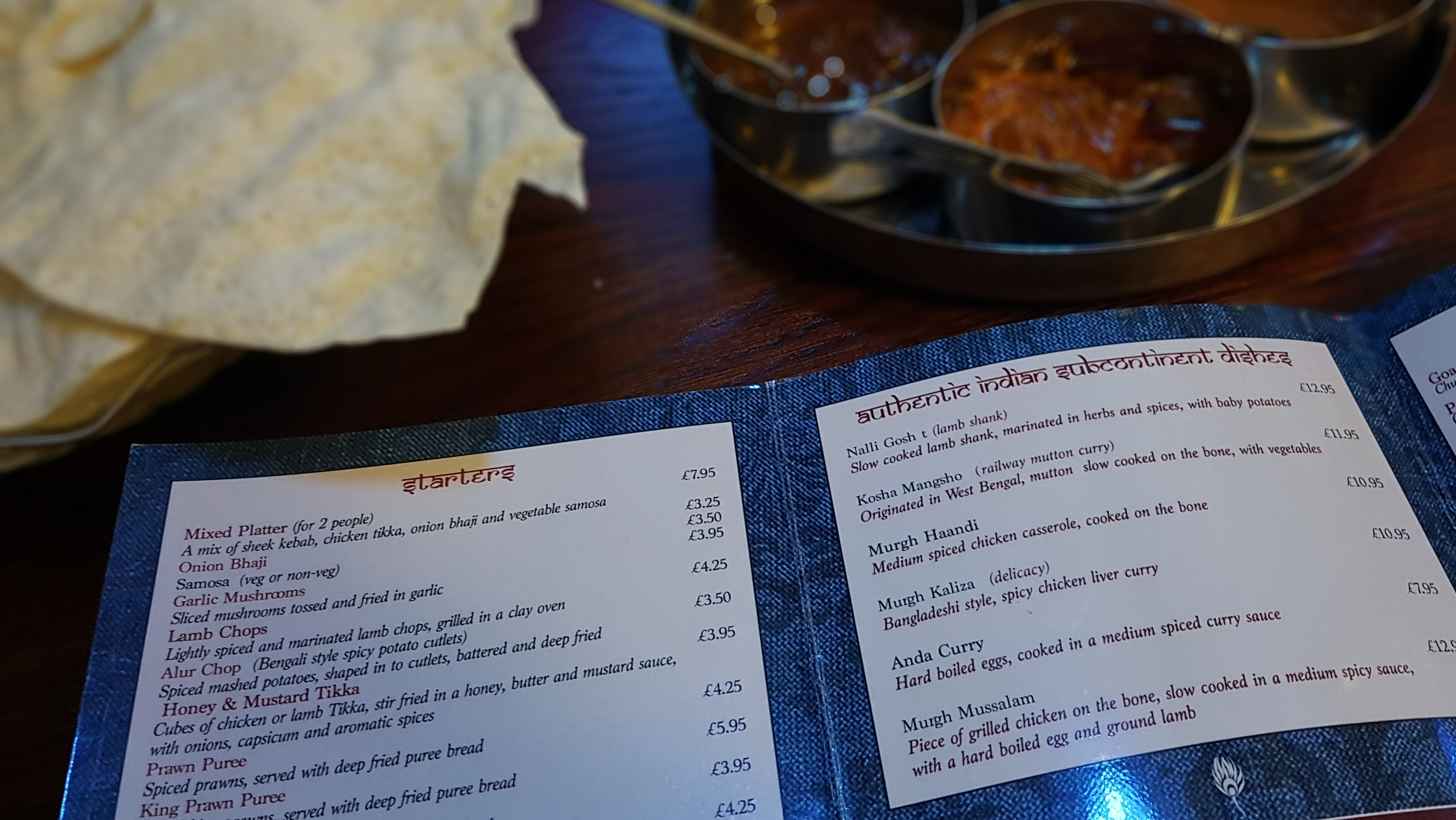 Review: Indian Restaurant Moza, Newport Pagnell